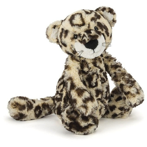 "Jellycat Bashful Leopard Medium 12"" - Jungle and Wild Animals - Anglo Dutch Pools and Toys"