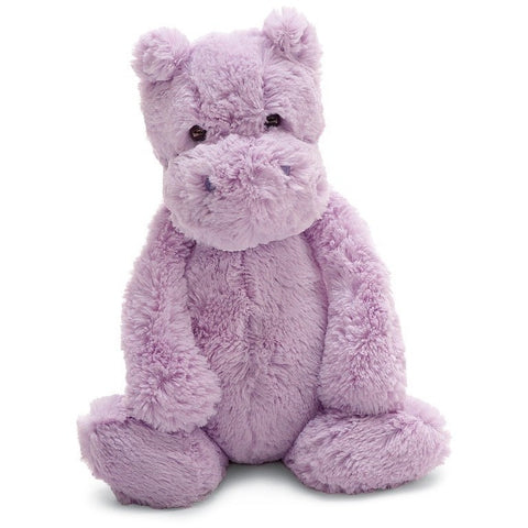 "Jellycat Bashful Lilac Hippo Medium 12""- - Anglo Dutch Pools & Toys"