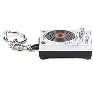 Kikkerland Turntable LED Keychain - Keychains - Anglo Dutch Pools and Toys