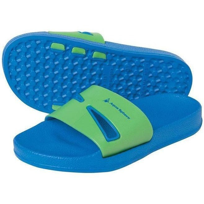 Kids And Junior Sandals And Flip Flops - Aqua Sphere Bay Jr Sandals- Blue & Green