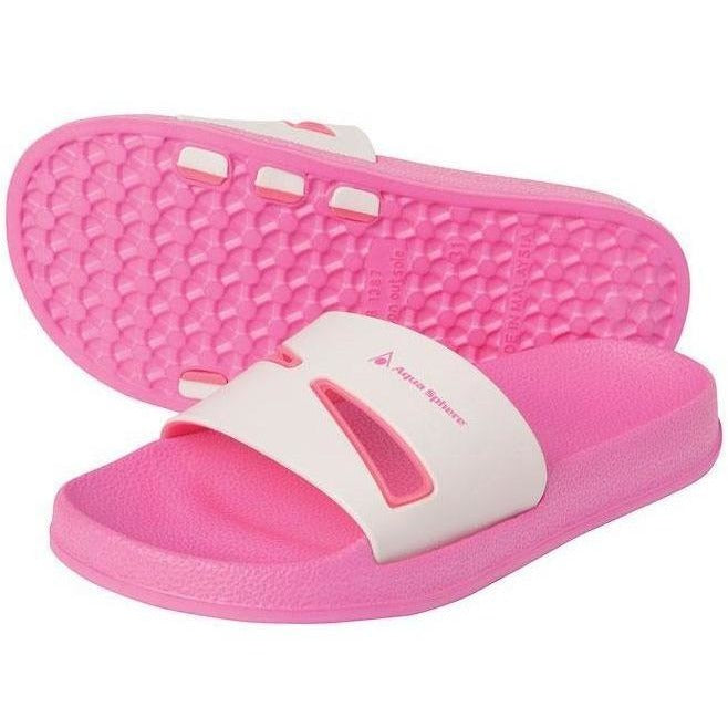 Kids And Junior Sandals And Flip Flops - Aqua Sphere Bay Jr Sandals- Pink & White