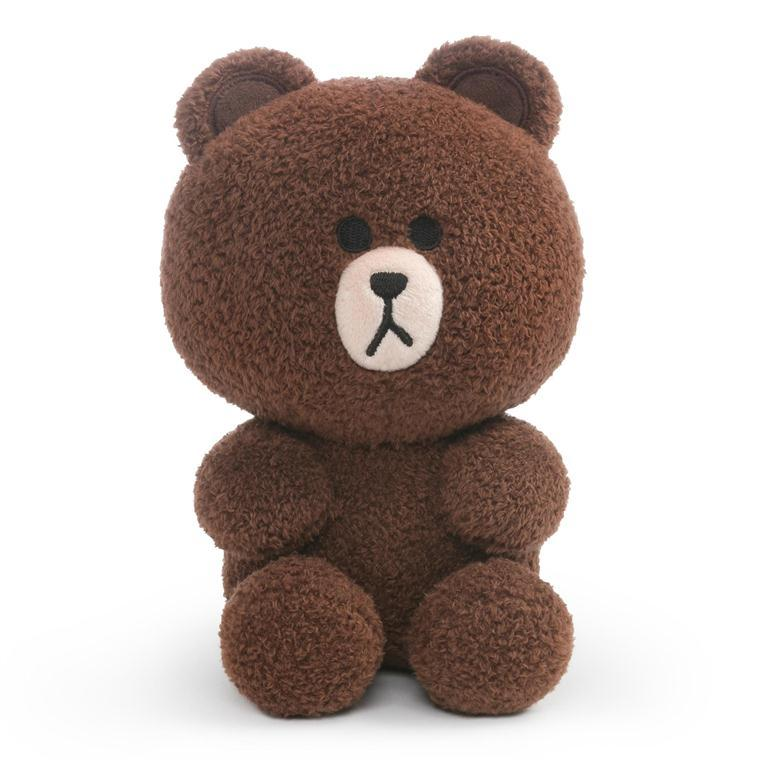 Licensed Plush Characters - Gund LINE FRIENDS Brown, Seated 7""