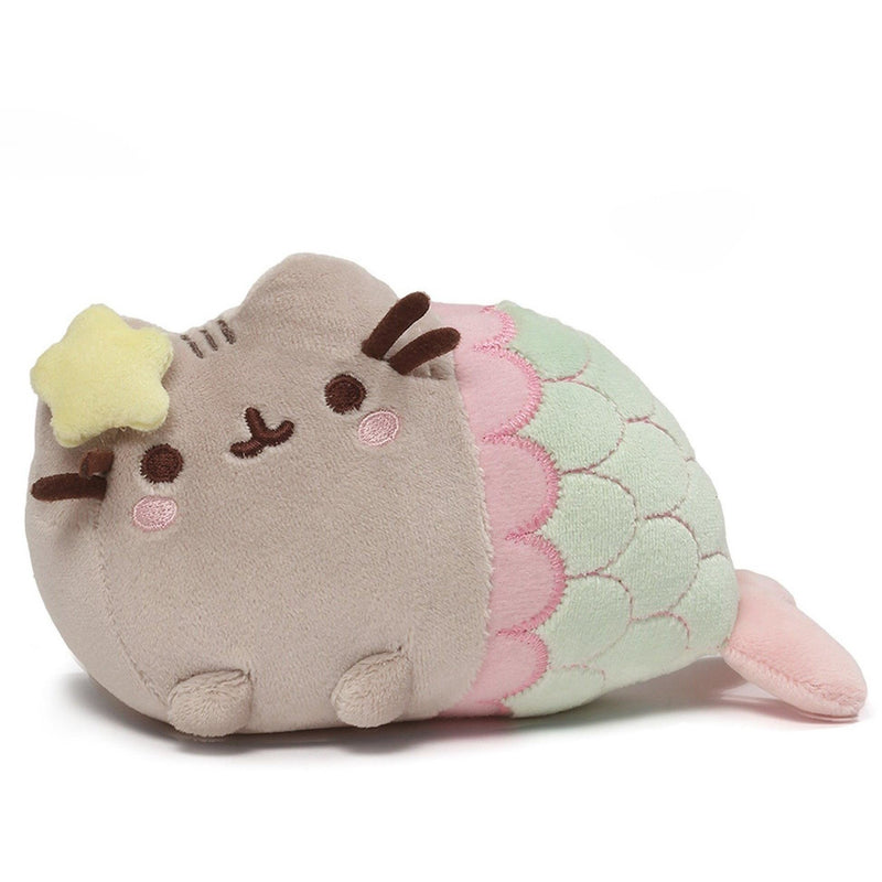 "Gund Pusheen Mermaid Star Plush 7"" - Licensed Plush Characters - Anglo Dutch Pools and Toys"