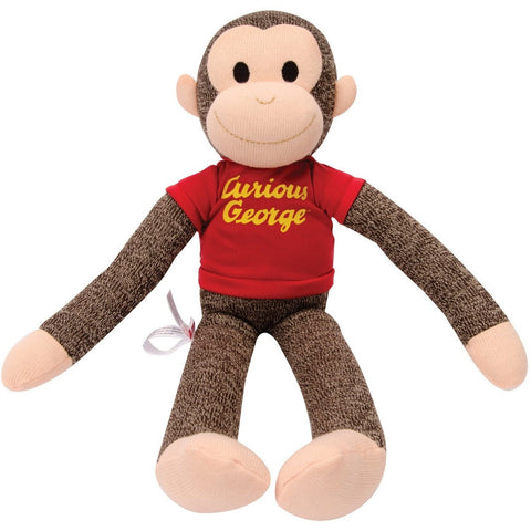 Schylling Curious George Sock Monkey Plush- - Anglo Dutch Pools & Toys