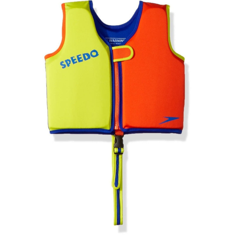 Speedo Begin to Swim Classic Swim Vest- Orange/Lime