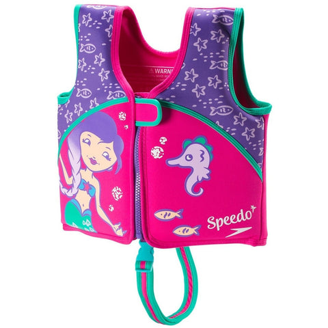 Life Jackets And Vests - Speedo Begin To Swim Printed Neoprene Swim Vest- Berry/Grape
