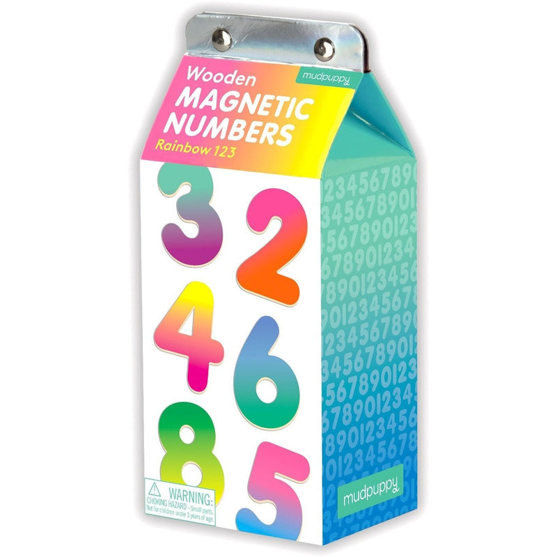 Magnet Sets - Mudpuppy Rainbow 123 Wooden Magnetic Numbers