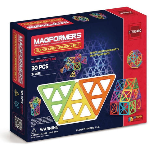 Magformers Super 30 Piece Set- - Anglo Dutch Pools & Toys  - 1