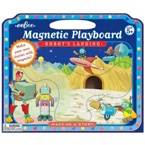 eeBoo Robot's Landing Make me a Story - Magnetic Playscapes - Anglo Dutch Pools and Toys