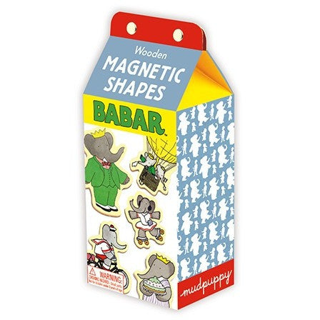 Mudpuppy Babar Wooden Magnetic Shapes Set - Magnet Sets - Anglo Dutch Pools and Toys