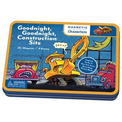 Mudpuppy Goodnight, Goodnight, Construction Site Magnetic Character Set- - Anglo Dutch Pools & Toys  - 1