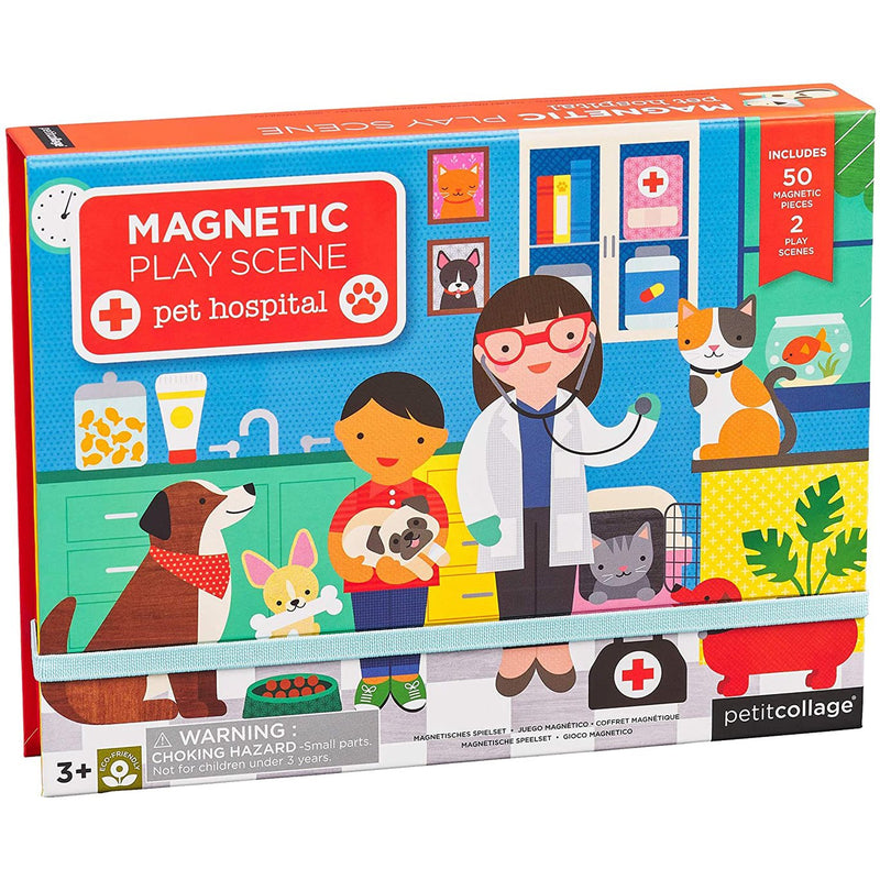 Magnetic Playscapes - Petit Collage Pet Hospital Magnetic Play Scene