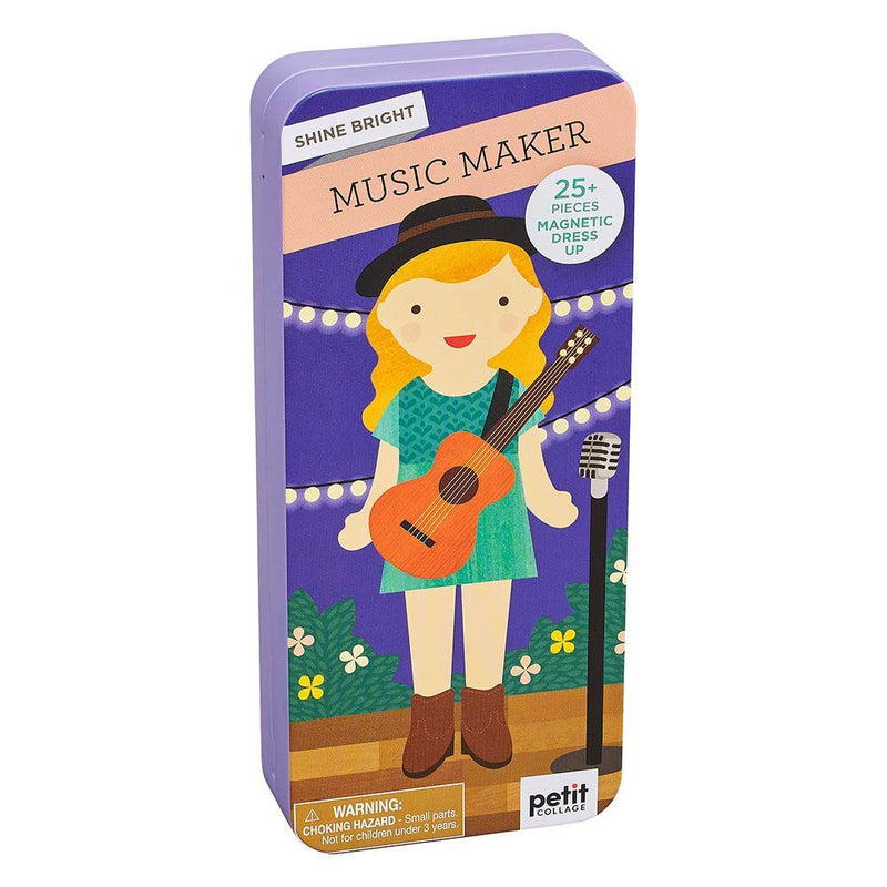 Magnetic Playscapes - Petit Collage Shine Bright: Music Maker Travel Magnetic Dress Up