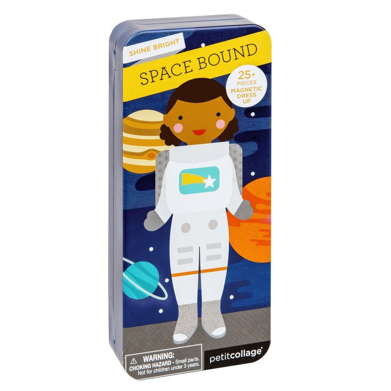 Magnetic Playscapes - Petit Collage Shine Bright: Space Bound Travel Magnetic Dress Up