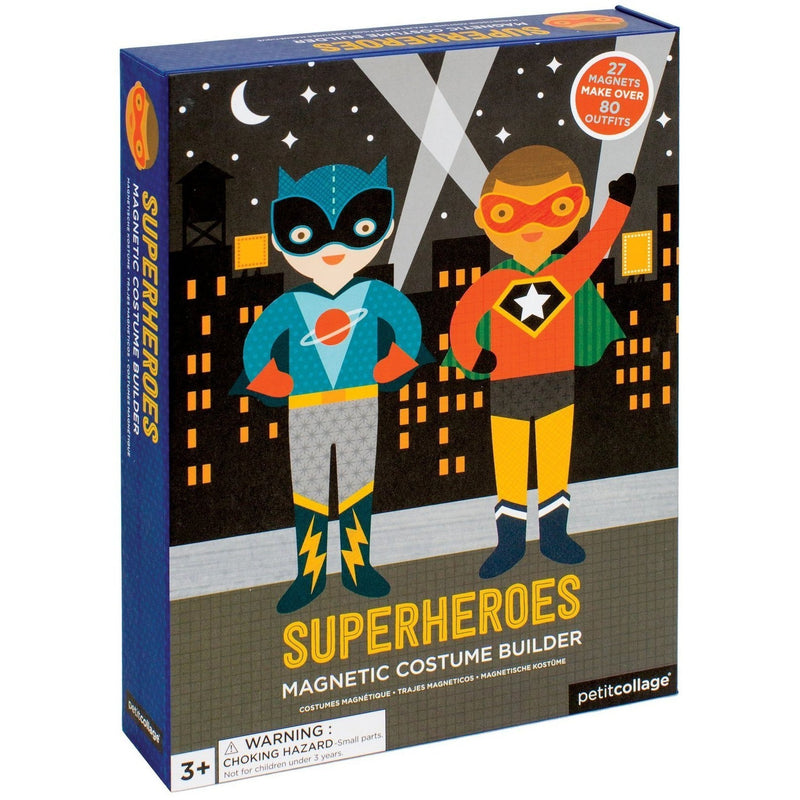 Petit Collage Superheroes Magnetic Builder
