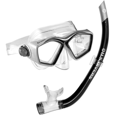 Mask And Snorkel Set - U.S. Divers Icon + Airent  Mask & Snorkel Black