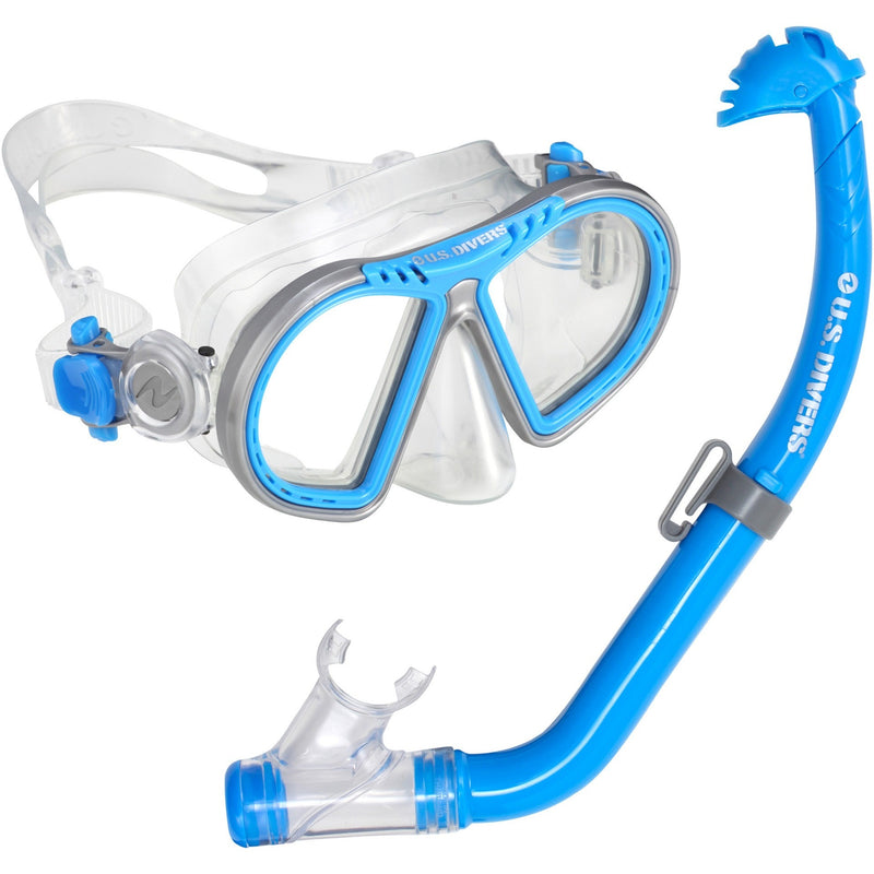 U.S. Divers Toucan PC + Eco Dry Kids Mask & Snorkel Blue - Mask and Snorkel Set - Anglo Dutch Pools and Toys