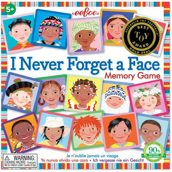 eeBoo I Never Forget a Face Square Matching- - Anglo Dutch Pools & Toys  - 1