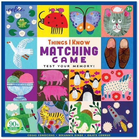 Memory Games - EeBoo Things I Know Matching Game