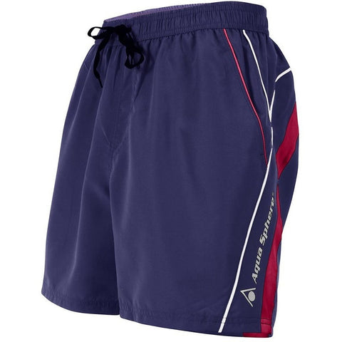 Aqua Sphere Volga Swimshorts- Navy / Red - Men's Lifestyle Swimwear - Anglo Dutch Pools and Toys