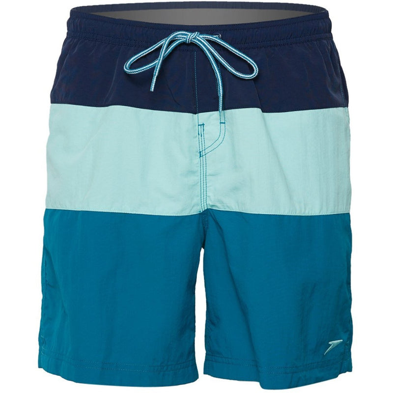 Men's Lifestyle Swimwear - Speedo Colorblock Volley Swim Shorts- Blue Tint