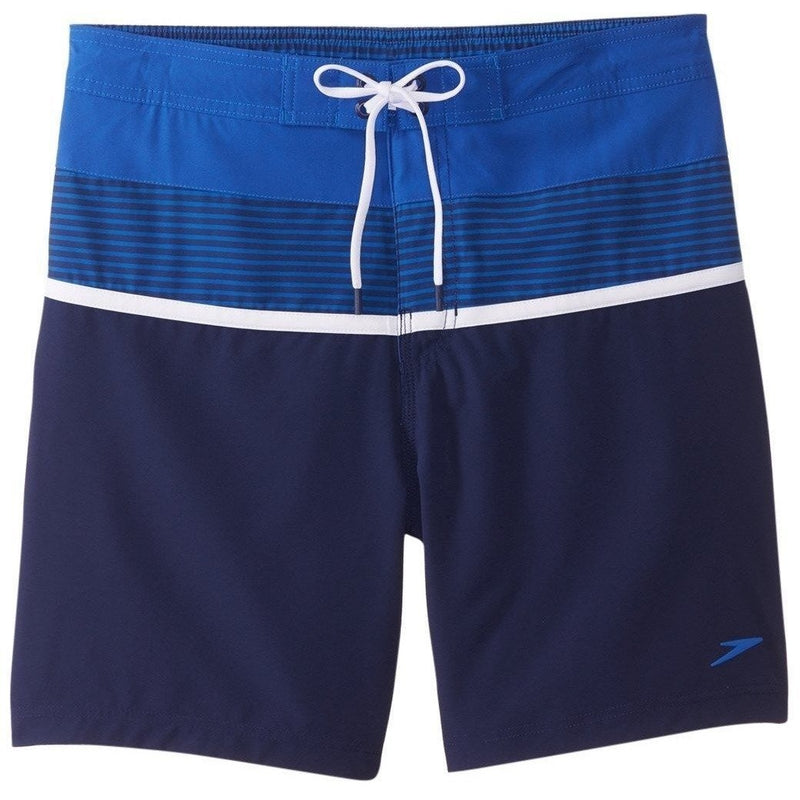 Speedo Two Tone Stripe E-Board Swim Shorts-Nautical Navy