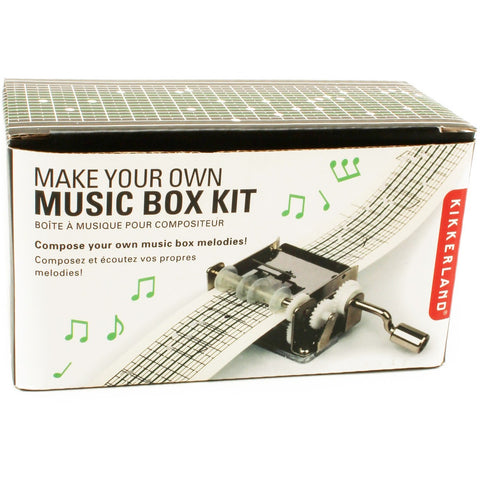 Kikkerland Make Your Own Music Box Kit - Music Boxes - Anglo Dutch Pools and Toys