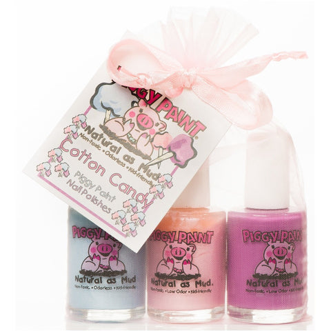 Piggy Paint Cotton Candy Nail Polish Set- - Anglo Dutch Pools & Toys  - 1