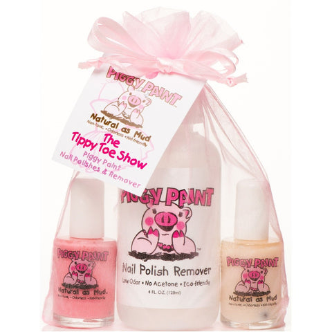 Piggy Paint The Tippy Toe Show Nail Polish & Remover Set- - Anglo Dutch Pools & Toys  - 1