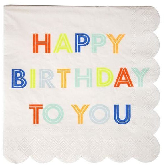 Napkins - Meri Meri Happy Birthday To You Small Napkins
