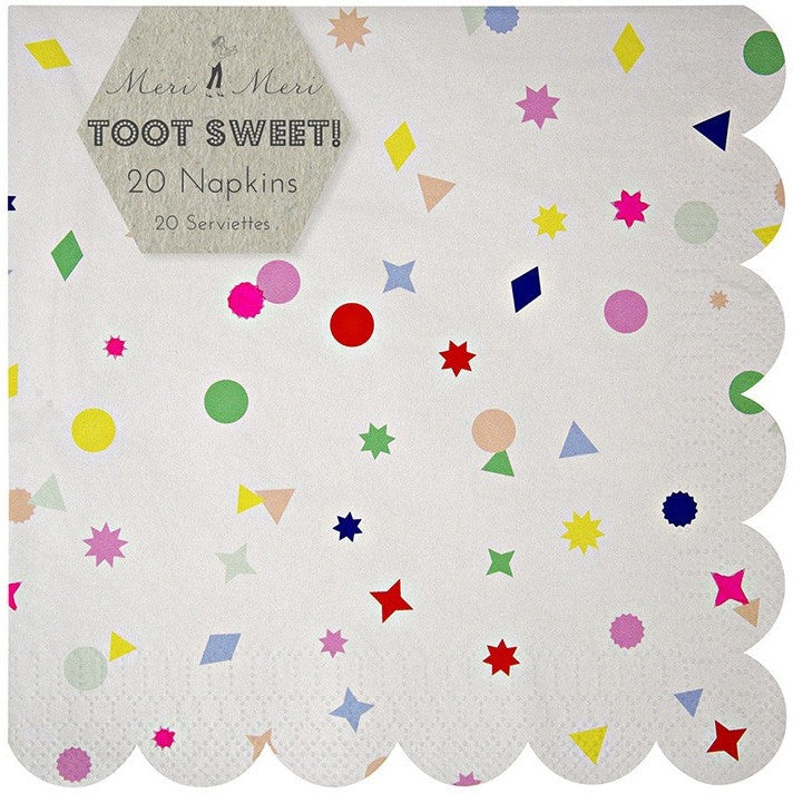 Meri Meri Toot Sweet Charms Large Napkins - Napkins - Anglo Dutch Pools and Toys