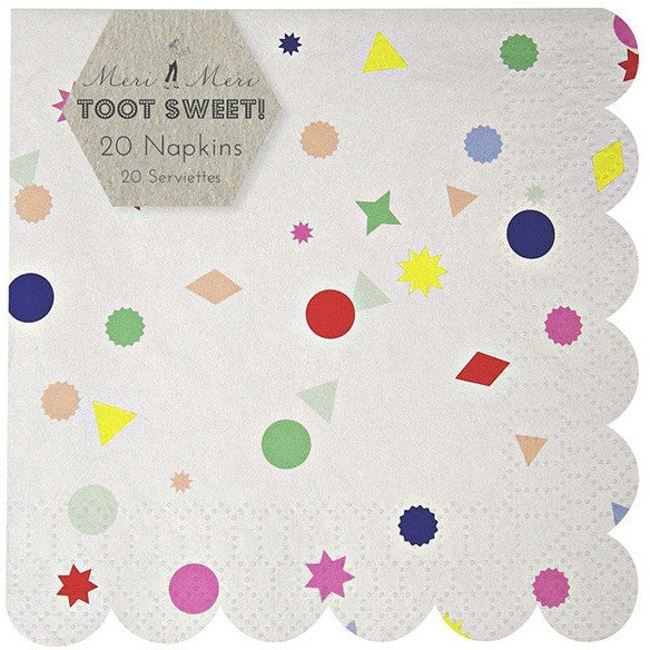 Meri Meri Toot Sweet Charms Small Napkin - Napkins - Anglo Dutch Pools and Toys