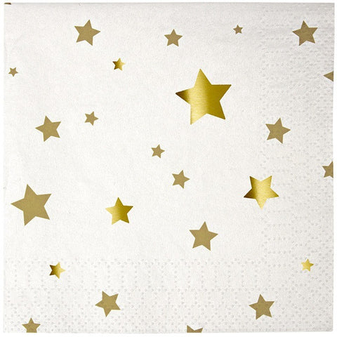 Meri Meri Toot Sweet Gold Star Small Napkins - Napkins - Anglo Dutch Pools and Toys