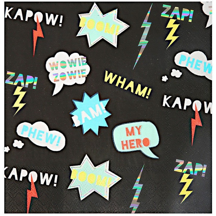 Meri Meri Zap! Super Hero Large Napkin - Napkins - Anglo Dutch Pools and Toys