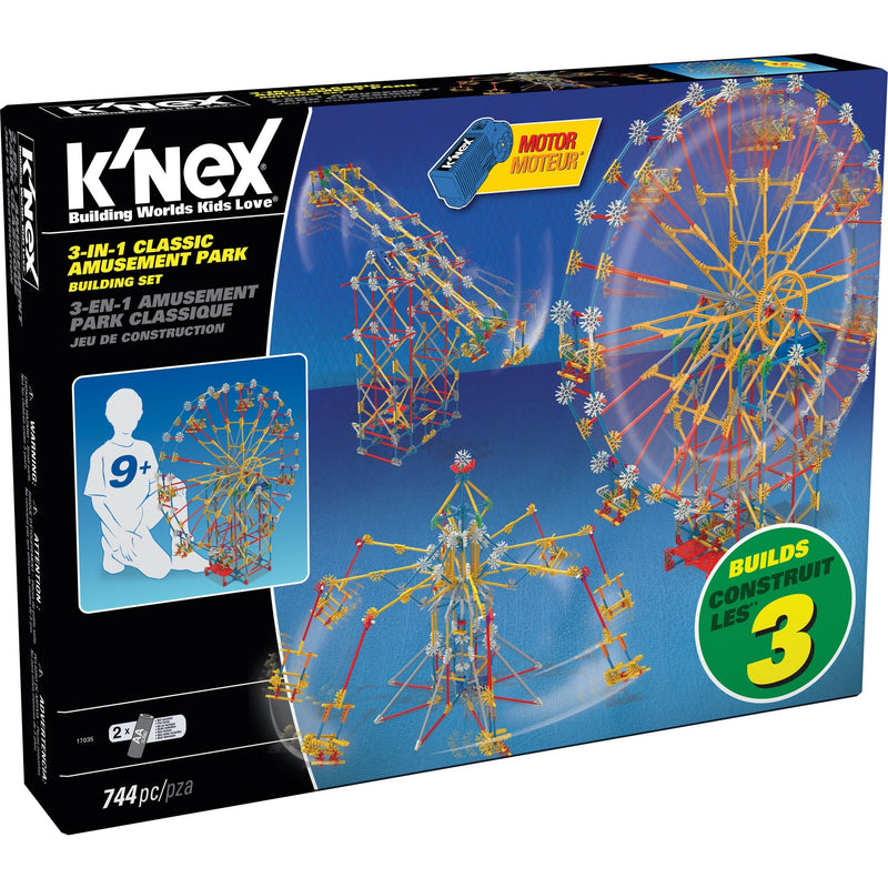 K'NEX 3-In-1 Classic Amusement Park Building Set- - Anglo Dutch Pools & Toys  - 1