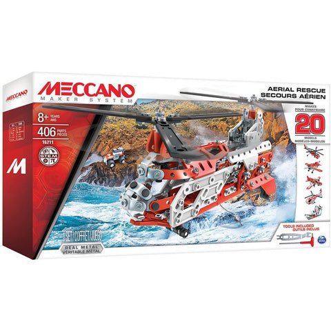 Meccano 20 Models Set - Aerial Rescue - Other Building Sets - Anglo Dutch Pools and Toys