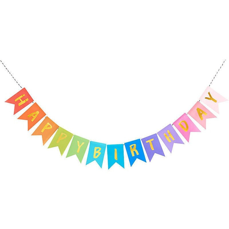 happy birthday rainbow banner party banners