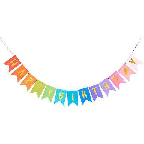 Happy Birthday Rainbow Banner - Party Banners - Anglo Dutch Pools and Toys