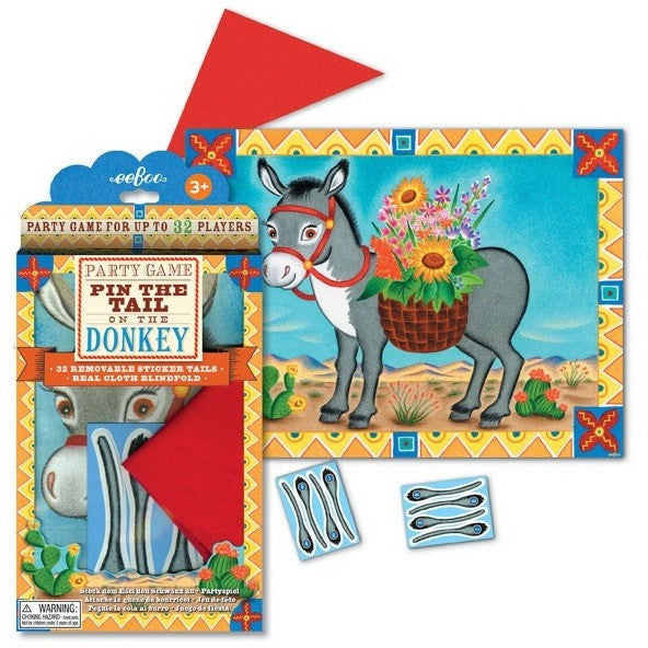 eeBoo Pin The Tail On The Donkey Game - Party Favors and Activities - Anglo Dutch Pools and Toys