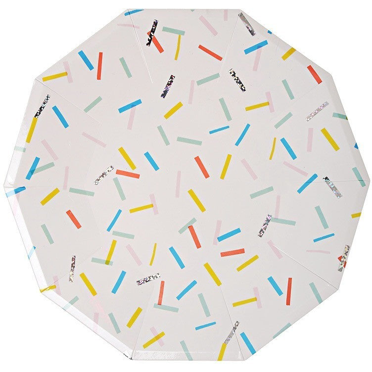 Party Plates - Meri Meri Sprinkles Large Plates