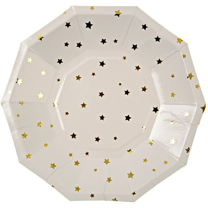 Meri Meri Toot Sweet Gold Stars Small Party Plate - Party Plates - Anglo Dutch Pools and Toys