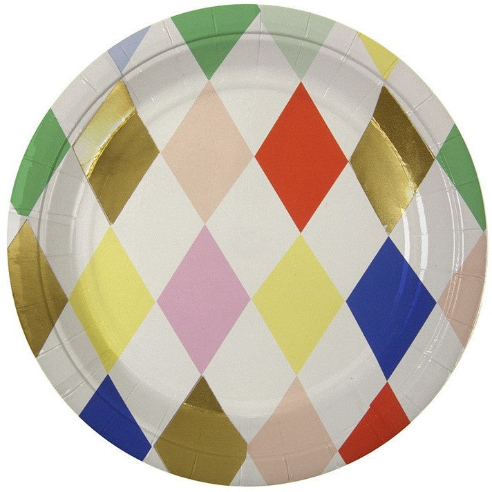 Meri Meri Toot Sweet Harlequin Small Round Plate - Party Plates - Anglo Dutch Pools and Toys