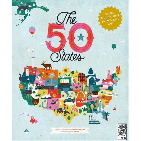 Picture Books - The 50 States: Explore The U.S.A. With 50 Fact-filled Maps!
