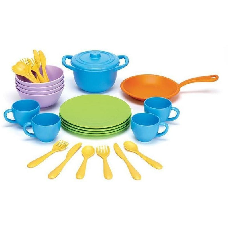 Play Food And Kitchen - Green Toys Cookware & Dining Set
