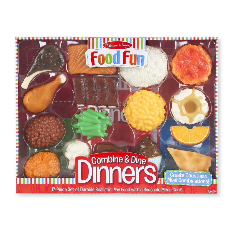Play Food And Kitchen - Melissa & Doug Combine And Dine Dinners - 17-piece Set