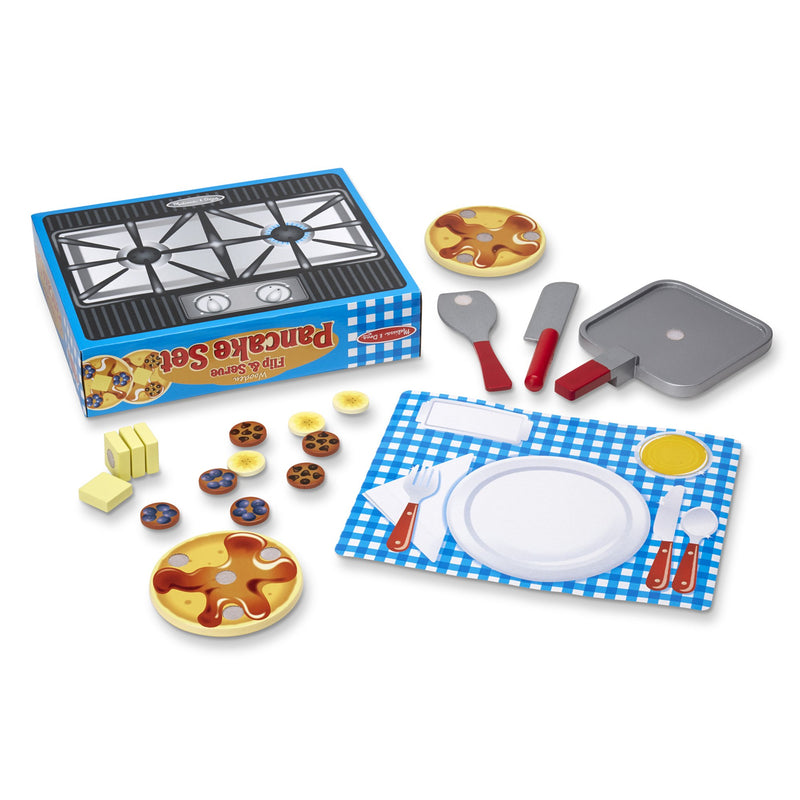 Play Food And Kitchen - Melissa & Doug Flip & Serve Pancake Set - Wooden Play Food