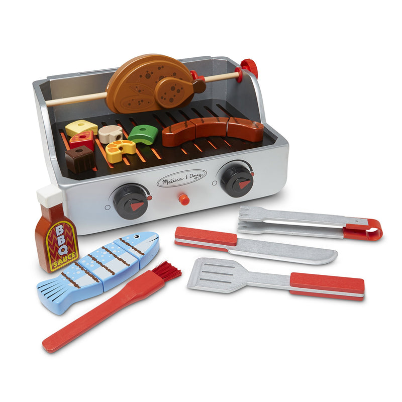 Play Food And Kitchen - Melissa & Doug Rotisserie & Grill Barbecue Set