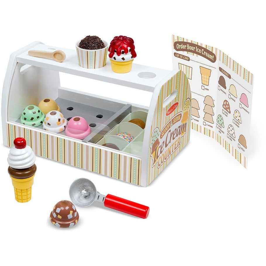Melissa & Doug Scoop & Serve Ice Cream Counter | Play Food and Kitchen