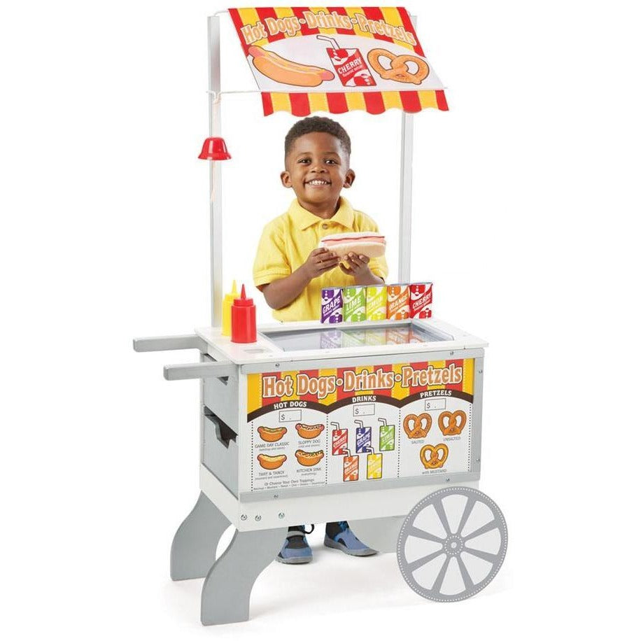 Melissa & Doug Snacks & Sweets Food Cart | Play Food and Kitchen