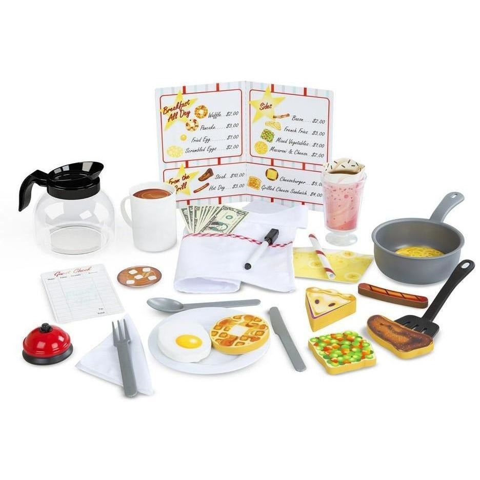 Melissa Doug Star Diner Restaurant Play Set Play Food And Kitchen